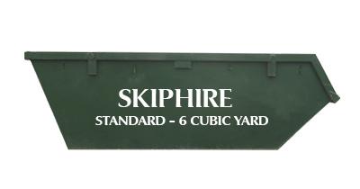 Standard - 6 Cubic Yard €290 Wicklow Wicklow Skip Hire